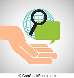 hand optimization technology globe speech