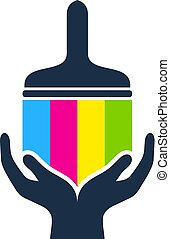 Hand Paint Logo Icon Design