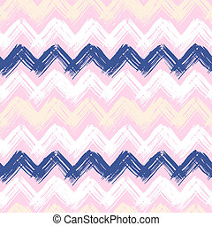 Hand painted chevron pattern - Vector seamless chevron...