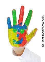 Hand Painted Child