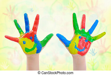image of a small hand painted child.