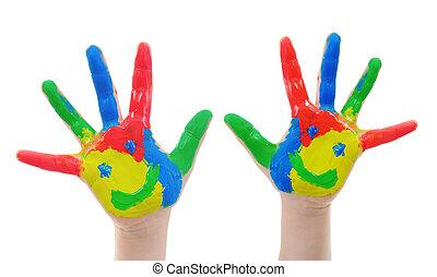 Hand Painted Child.