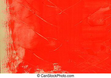 Hand painted multi layered red background with scratches