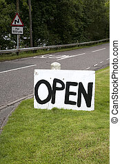 Hand Painted Open Sign