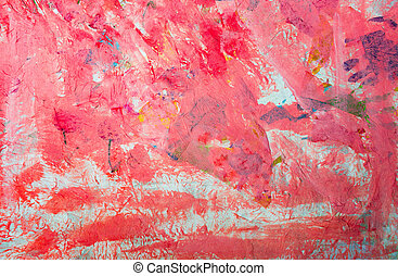 Hand painted red watercolor abstract background