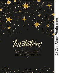 Hand painted stars - Vector illustration of hand painted...