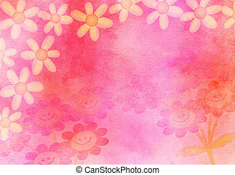 Hand Painted Watercolour Daisy Flower Paper