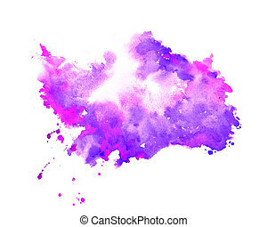 hand painter purple watercolor stain texture background