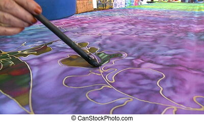 hand-painting, lumpur, batik, kuala, malaisie