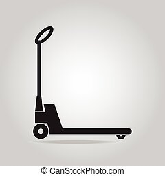 Hand pallet jack lift sign, Hand Pallet Truck illustration