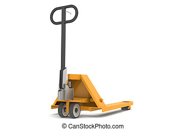 Hand Pallet Truck. Part of warehouse series.