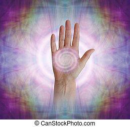 Hand Palm Chakra with Vortex healing energy