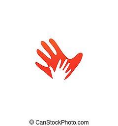 Hand palm logo icon template vector