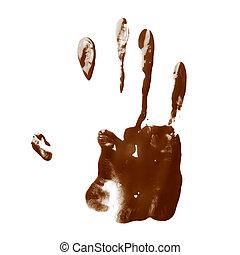 Hand palm oil paint print - Handmade hand palm oil paint...