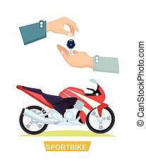 Hand Passing Key. Process of Buying Sportbike - Sportbike...