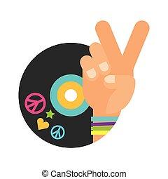 retro hippie style