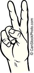 Hand Peace Sign Illustration