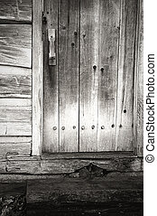 Hand pegged wooden door. - Lincoln's New Salem State...