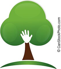 Hand people tree logo