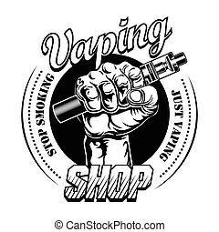 Hand pf vaper vector illustration
