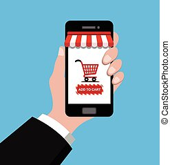 hand-phone-shopping