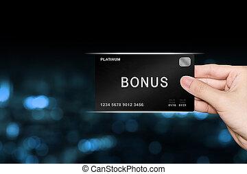 hand picking bonus platinum card