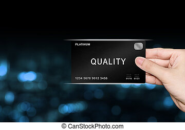 hand picking quality platinum card