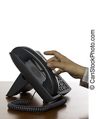 hand picking telephone