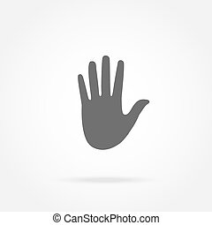 hand, pictogram