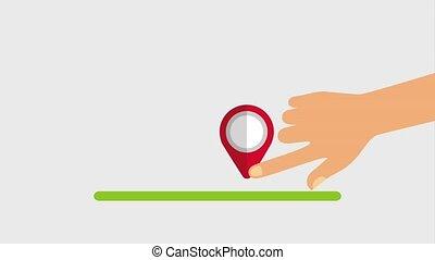 hand pin map