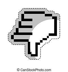 hand pointer cursor icon