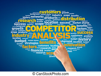 Competitor Analysis - Hand pointing at a Competitor Analysis...