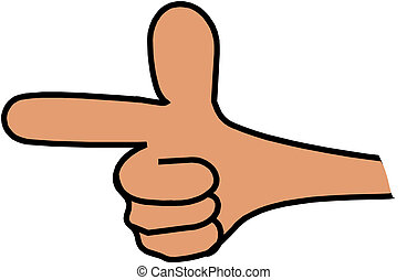 Hand pointing finger illustration