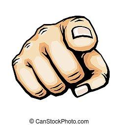 Hand pointing finger vector illustration
