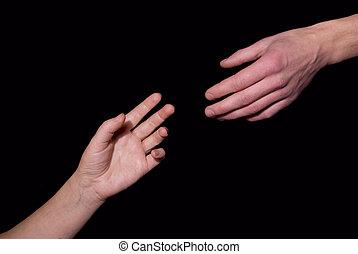 hand, portion