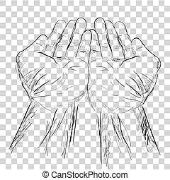 Hand - Pray - Sketch - DP 01A