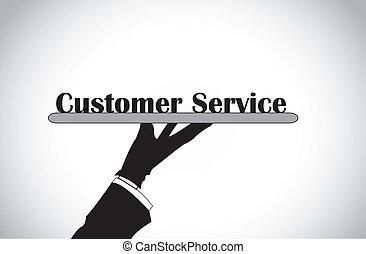 hand presenting customer service