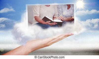 Hand presenting religion and prayin