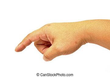 Hand press button