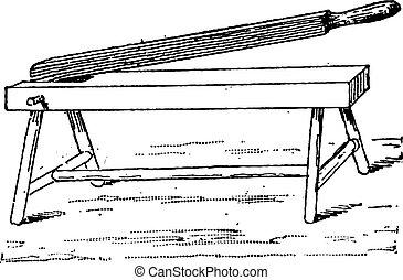 Hand Press, vintage engraving