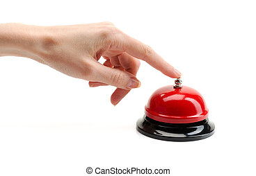 hand presses the call