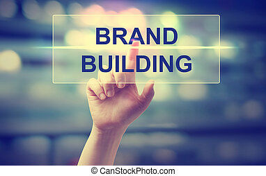 Hand pressing Brand Building