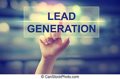 Hand pressing Lead Generation