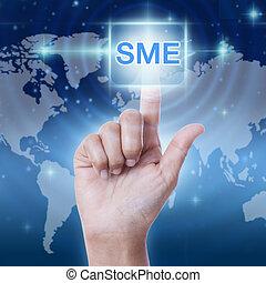 hand pressing SME