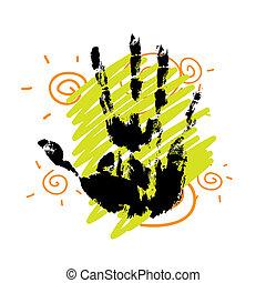 hand print background design