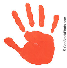 hand print color art craft trace paint - close up of colored...