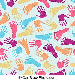 Hand print seamless pattern