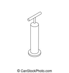 Hand pump icon, isometric 3d style