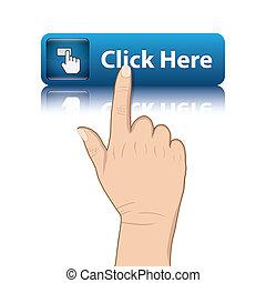 hand push web button