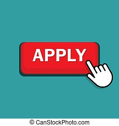hand pushing on apply now button.